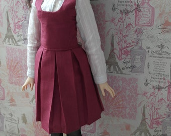 BJD SD 60cm Maroon jumperskirt (fitted bodice)