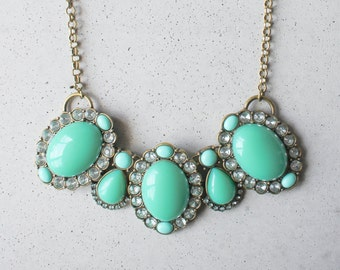 Turquoise Robin Egg Statement Necklace