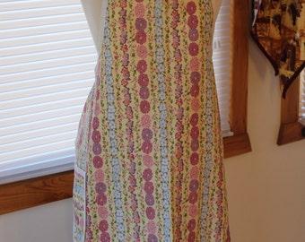 Cotton Apron - Flower Pattern