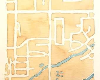 Personalized Local Map || Coffee Painting