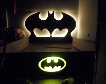 Twin bed, custom bed, Batman bed, Superhero bed, Headboard, Handcrafted Bed, Bat Man Bed, Gotham, Batman decor, Full Bed, Queen Bed,King