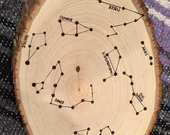 CUSTOM Time/Date Constellation Plank