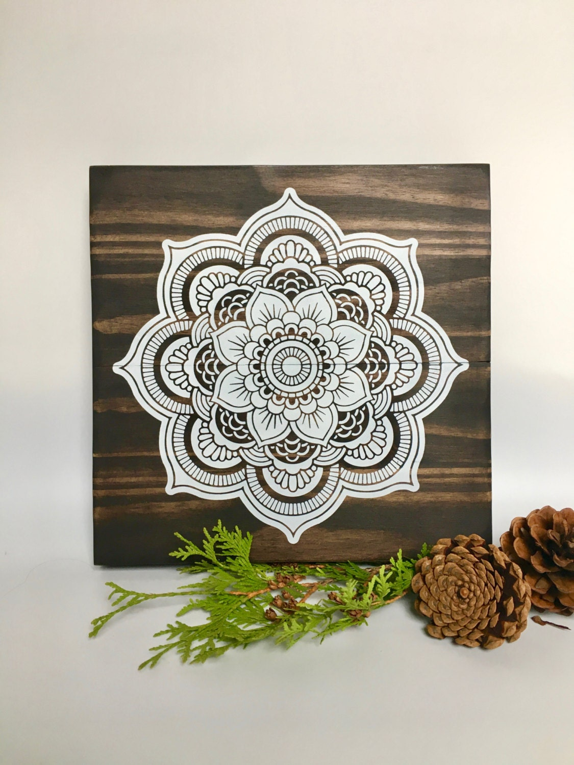 Wood Wall Art Mandala Painting Mandala Wall Art