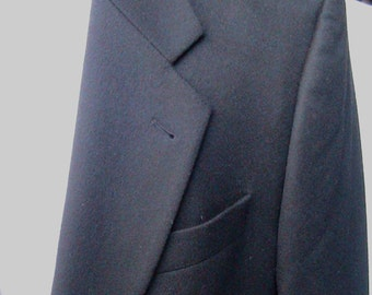 Size 44 BLACK CHIARELLI UOMO Cashmere/Wool Sport Coat