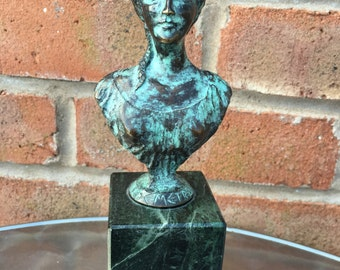 "Stunning Pure Bronze Statue ""Demetra"" Signed Hotcast Sculpture, Handmade by the author!!!"