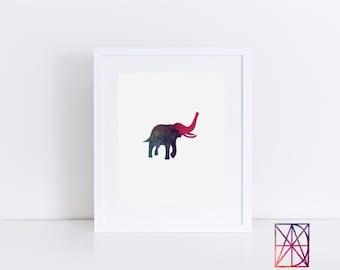 Elephant Poster, Elephant Watercolor, Elephant Art Print, elephant artwork, elephant wall art, elephant art print, elephant wall decor, art