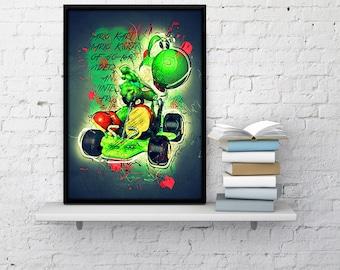 Nintendo Wall Art yoshi art print | etsy