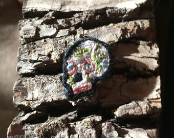 Tiny Sugar Skull / Dia De Los Muertos Skull Patch