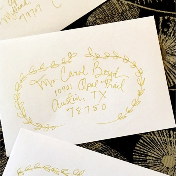 Custom Wedding Handwritten Calligraphy Envelope Addressing / Hand Lettered / Custom Wedding Placecards, RSVP Envelopes & Other Signage Also
