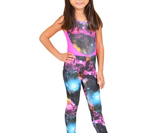Girl's Galaxy Print Leggings
