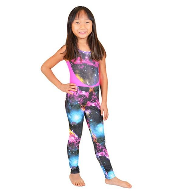 Girl's Galaxy Print Leggings