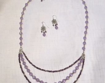 Lavender Forever Necklace & Earring Set