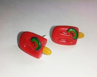 Watermelon Ice Cream Earrings