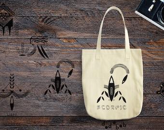 Zodiac Tote Bag Scorpio Leo Virgo Libra / Astrology Bag / Zodiac Bag / Astrology Tote / Zodiac Purse Scorpio Leo Virgo Libra Canvas Tote Bag