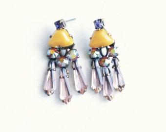 Sorrelli Vintage Earring, Sorrelli Pina Colada Collection, Sorrelli Earring, Collectors Dream, Swarovski Crystals Earring, Vintage Earring