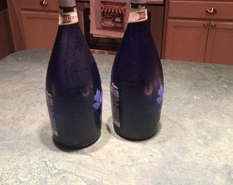 Cobalt Blue Wine Bottle Tiki Torch