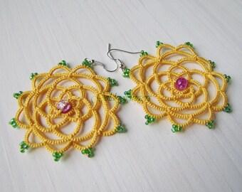 DreamCatcher earrings Sun