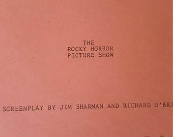 The Rocky Horror Picture Show Rare Shooting Script