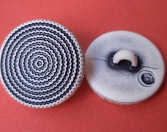 Black White 18 mm (3443) button 12 buttons