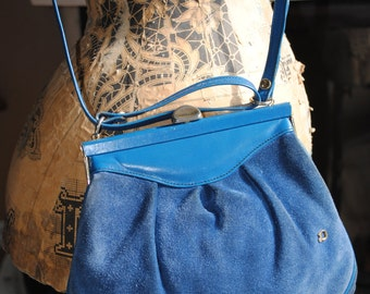 "Blue bag ""Sac Georgette"""