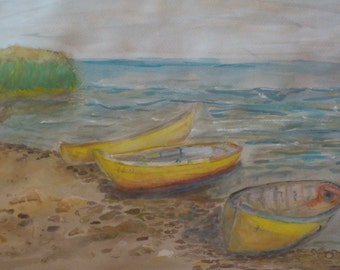 Fishing boats on the Black Sea