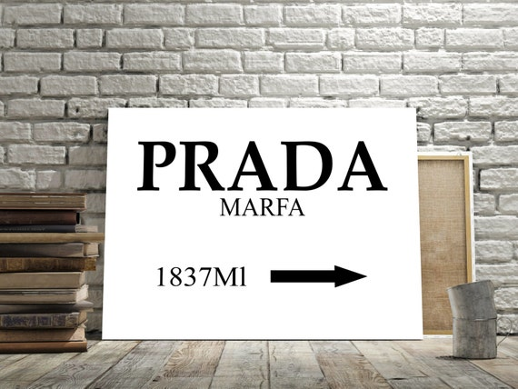 prada marfa inspired wall art poster prada by. Black Bedroom Furniture Sets. Home Design Ideas