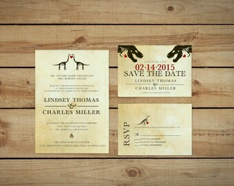 Dinosaur Wedding Invitation Kit Printable