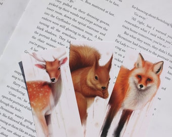 Three Forest Animals Bookmarks