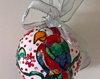 Handpainted Parrot Ornament