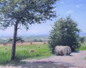 Warm Afternoon in Tuscany Oil Painting