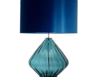 Blue Hand Blown Glass Lamp High Quality