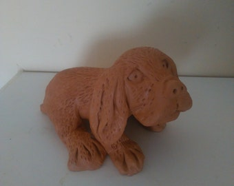 dog made with PuTTY all handmade
