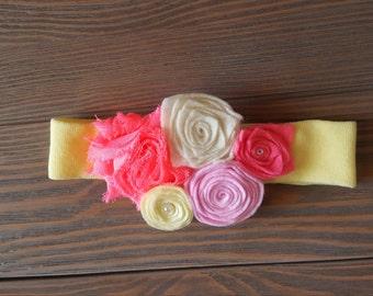 Baby felt flower headband