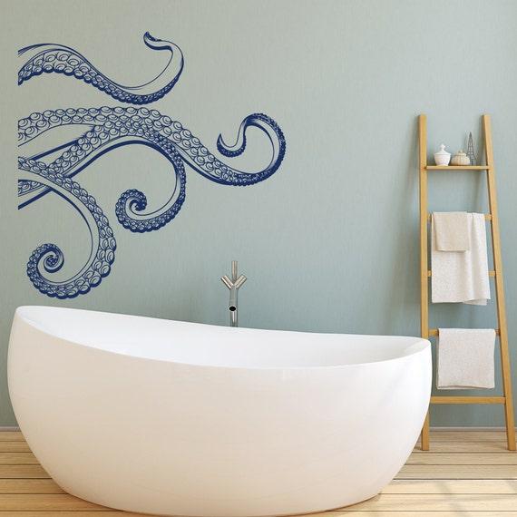 kraken octopus tentacles vinyl wall decal octopus by homyvinyl. Black Bedroom Furniture Sets. Home Design Ideas