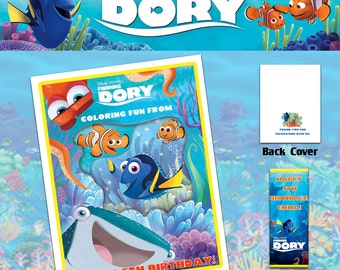 Finding Dory Coloring Book with Crayons