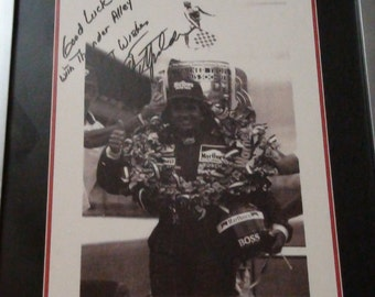 Emerson Fittipaldi autographed framed photo Reduced