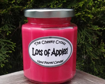 Apple Candle, Soy Candle, Apple Soy Candle, Red Soy Candle, Scented Candle, Red Candle, Fruit Candle, Fall Candle, Scented Soy Candle