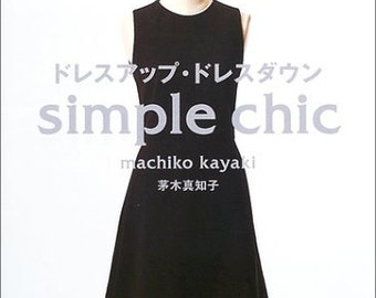 SIMPLE CHIC DRESS Patterns Japanese Book Sewing patterns one piece blouse Court