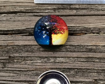Tree of Life 18mm Snap Button