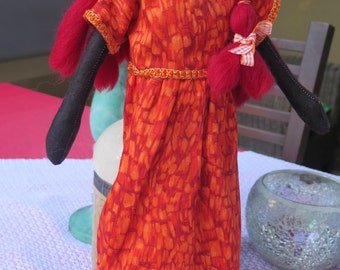 Handmade,one of a kind , textile doll