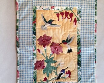 Hummingbirds and Bleeding Heart Wall Quilt