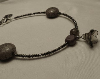 "9"" Beaded Anklet  #35"