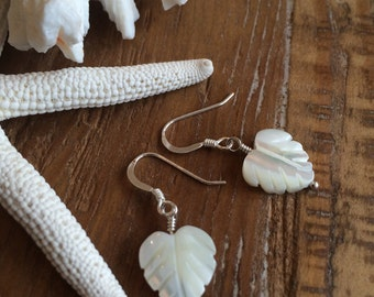 Shell and Sterling Silver Earrings