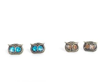 Owl Stud Earrings/Owl Jewell Earrings/Trendy Cute Earrings/Earring Gift/Present for Teens/Animal Earrings/Present for Mom/Present for Girls