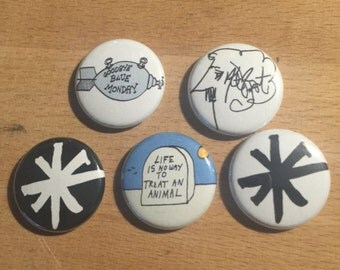 Kurt Vonnegut Jr 1in Button Set with Pinbacks