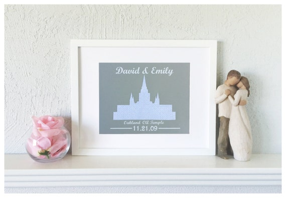 Gift For First Wedding Anniversary Couple: LDS Wedding Gift First Anniversary Gift For Couple Paper