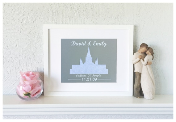 First Wedding Anniversary Gifts For Couple: LDS Wedding Gift First Anniversary Gift For Couple Paper