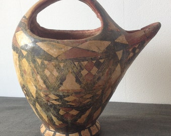 Berber pottery Ideqqi Kabylieabylie 19th century Touareg. African Pottery Arts - traditional. Antique Berber broth Pot.