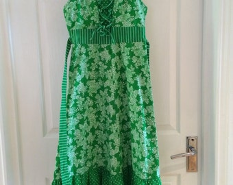 Vintage Chelsea Girl 70's dress green peasant style boho