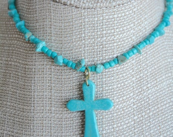 chocker necklace collar Turquoise